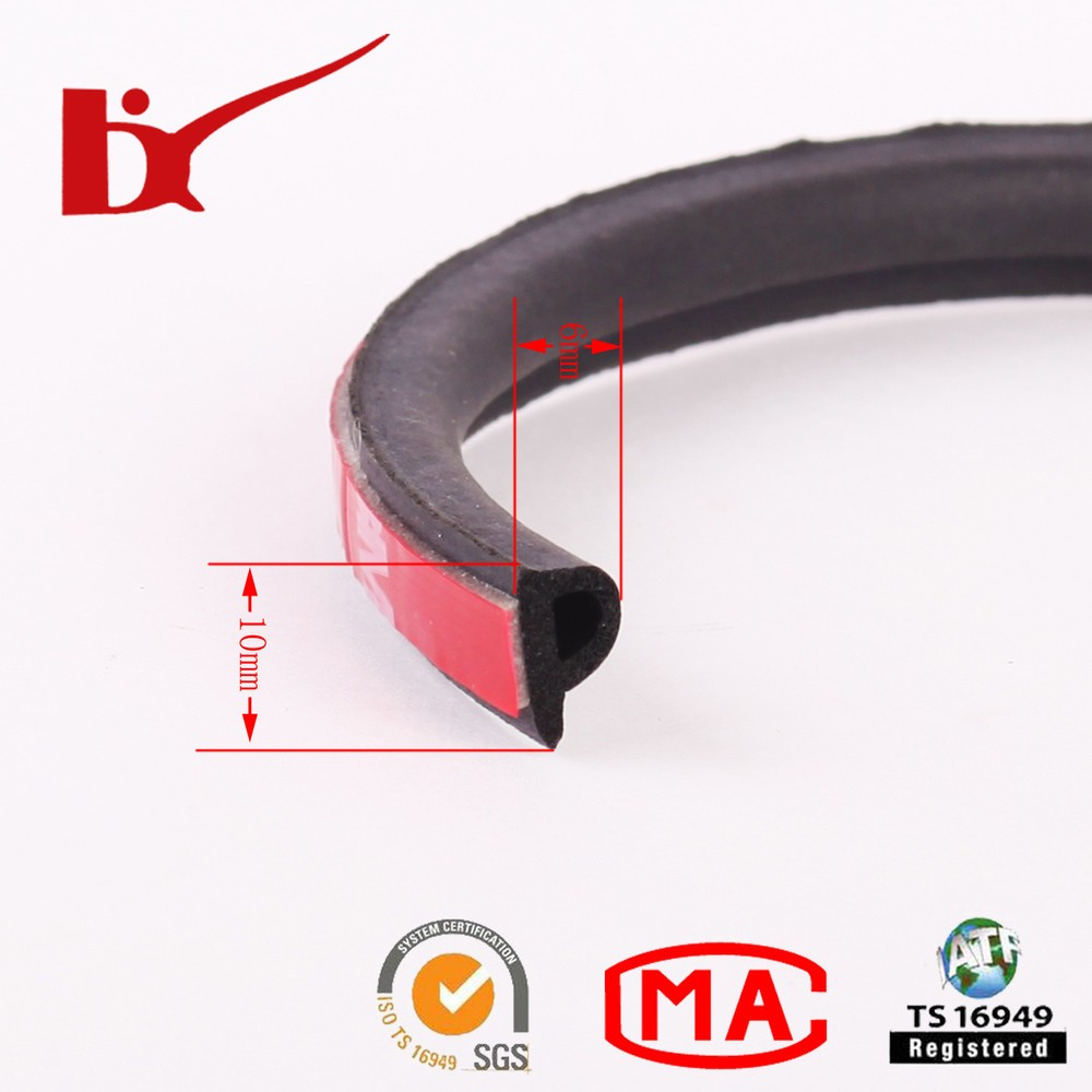 Extruded 3m Adhesive Backed Rubber Weather Strips /soft Foam ...