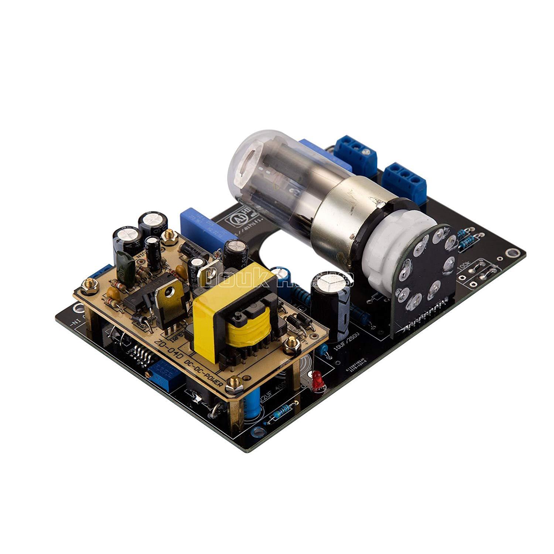 Nobsound DC12V Car Audio 6N8P(6H8C/6SN7) Vacuum Tube Preamp HiFi Stereo Pre-Amplifier Board