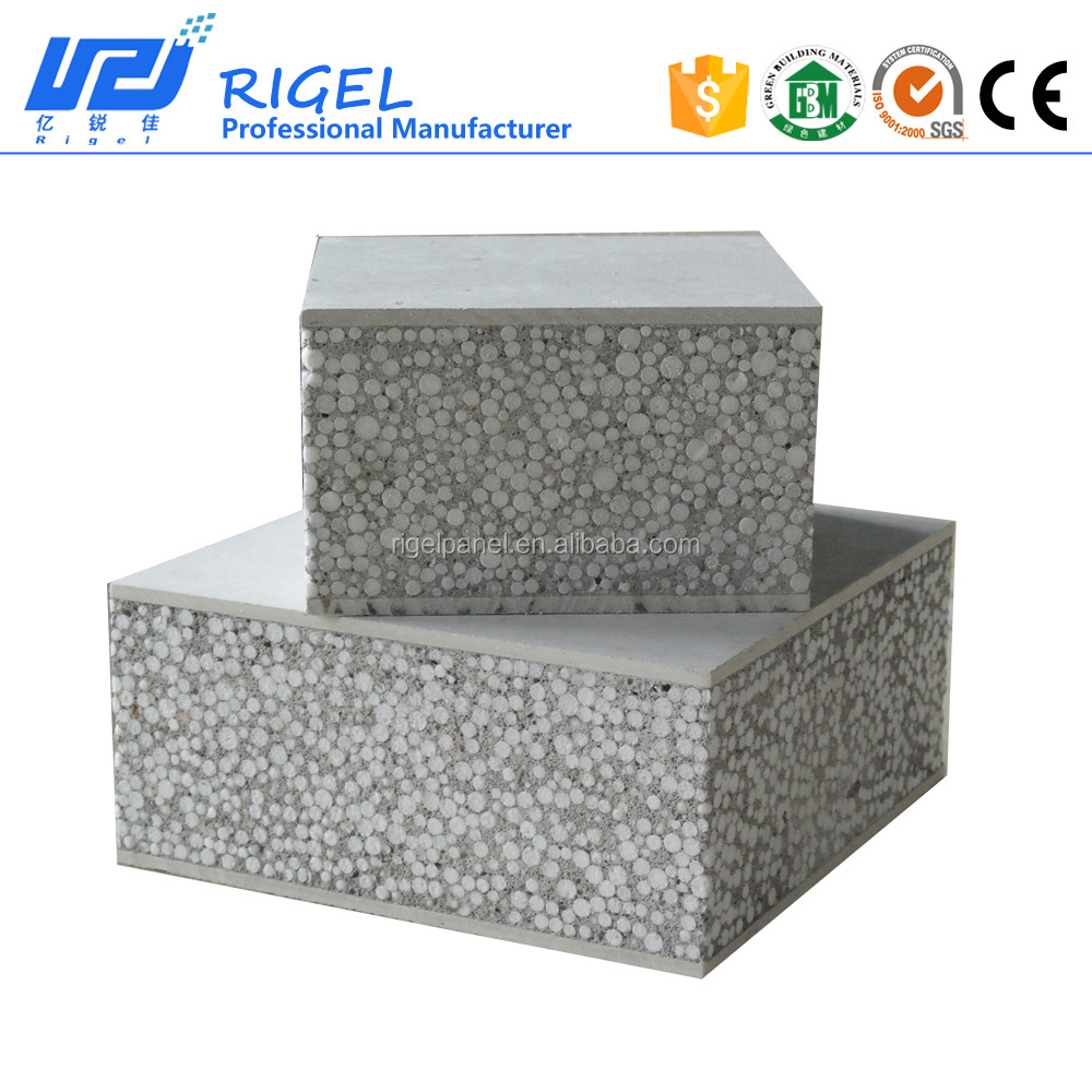 lightweight decorative insulated panel for prefab houses