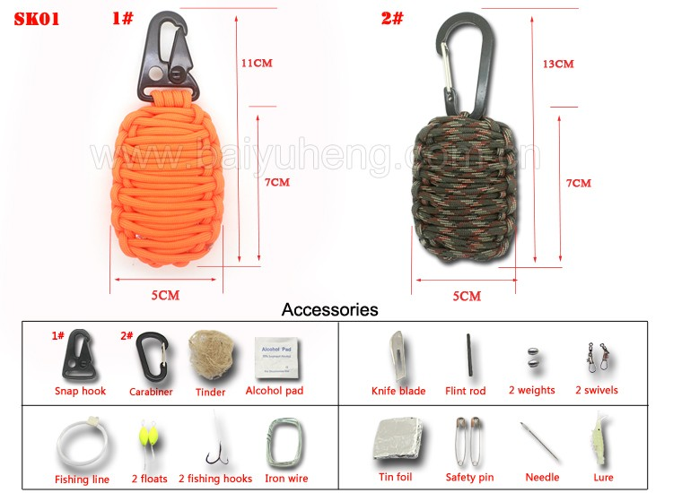 Outdoor Survival Pack List Camping Accessories Equipment China