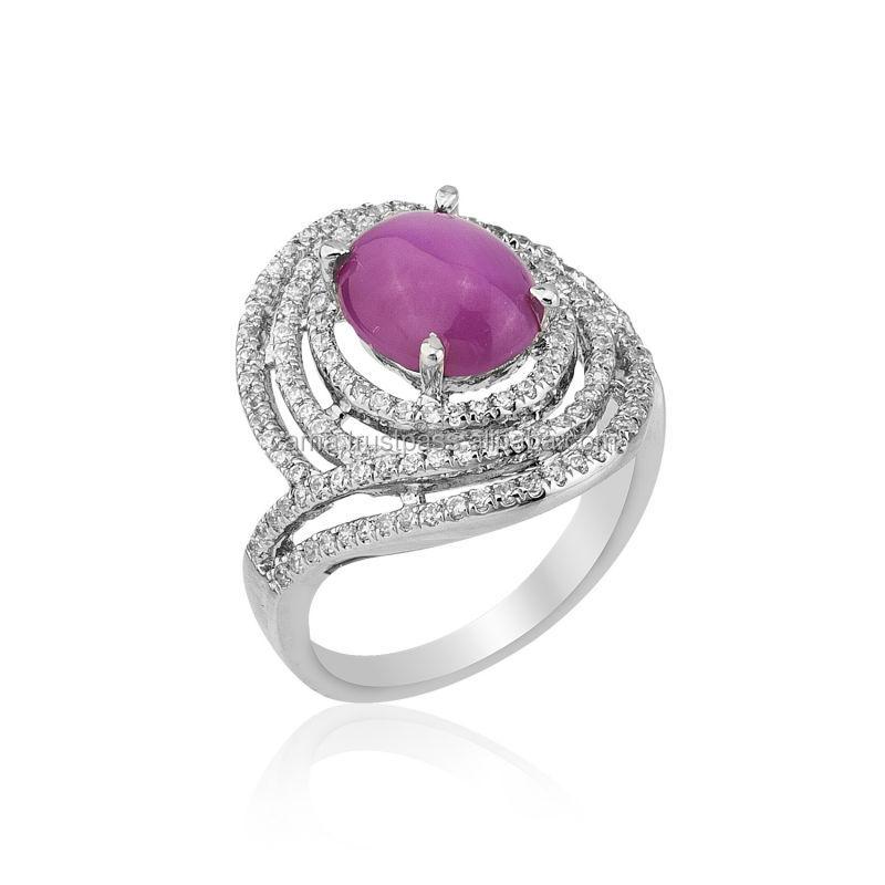 Micro Setting Stylish New Design Gold Ring Star Cut Ruby - Buy ...