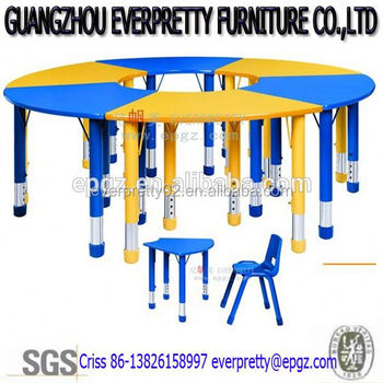 Metal Frame Children Used School Furniture Plastic Tables And Chairs Of  Sunday School Furniture