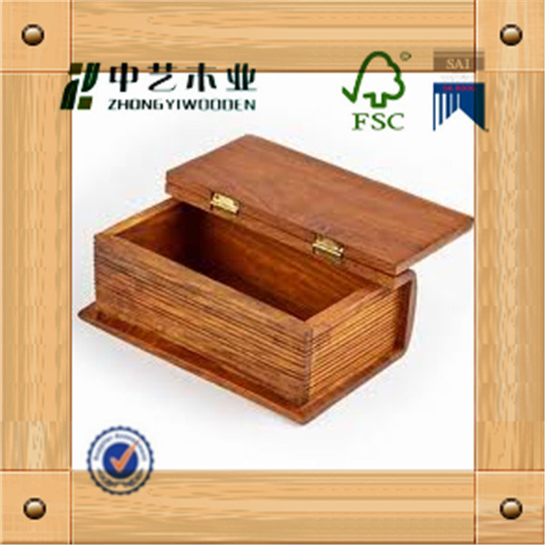 Decorative Book Shaped Boxes 2015 New Product Wood Box Wholesale ...