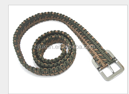 New Arrival Survival Kit Type Paracord Belt Outdoor Camping Handmade Western Weave 550 Paracord Belt
