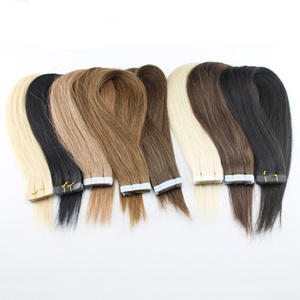 Wholesale Skin Weft virgin hair extension,virgin remy tape hair extension,unprocessed brazilian natural 100 human hair extension