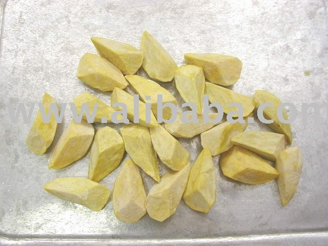 Fried Or Steamed Or Boiled Sweet Potato Diamond Cut
