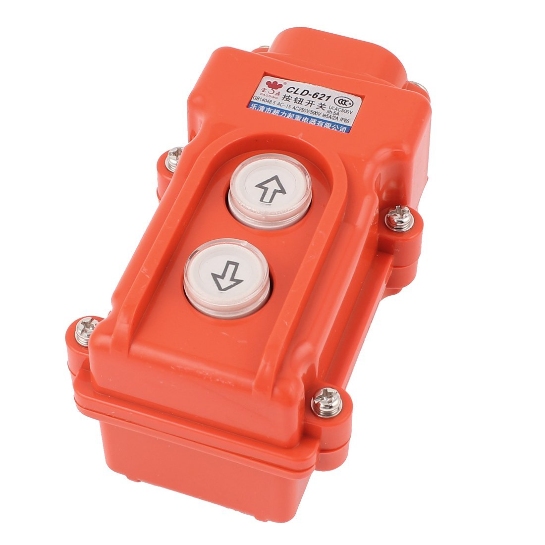 uxcell AC 500V 5A Hoist Crane Pendant Up-Down Rain Proof Pushbutton Switch