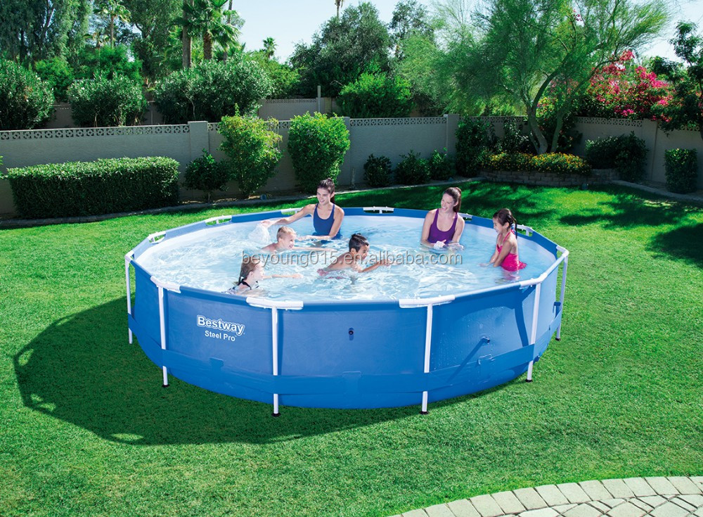 330x102 Cm Bestway Hexagonal Power Stahlrahmen Pools 10.8ft ...