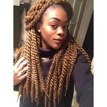 2016 hot selling new crochet braid with human hair 12'' Magic havana Jumbo twist braid with dropship