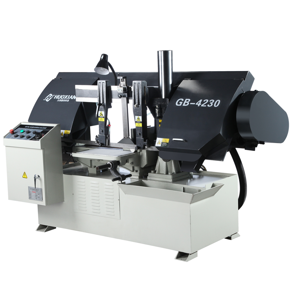 Huoxian Gb4230 New Band Sawing Machine Semi-automatic Horizontal Gantry  Band Saw Machine Cuts Metals Includes A Band Saw Blade - Buy Export Sawing