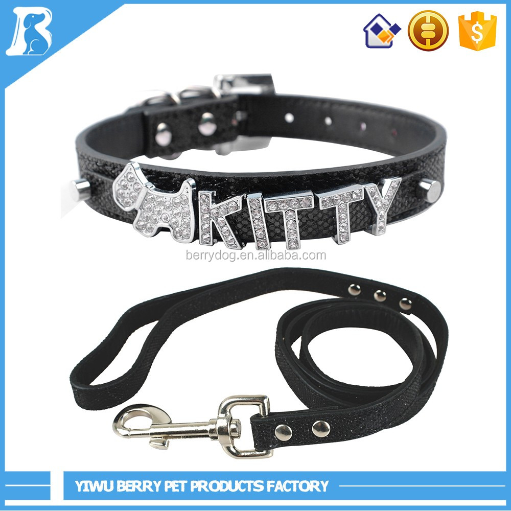 wholesale China import DIY Personalized Bling Name dog pet products , dog collars