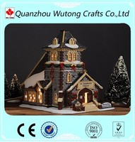 Indoor Giftware Decoration Mini Christmas Village Houses