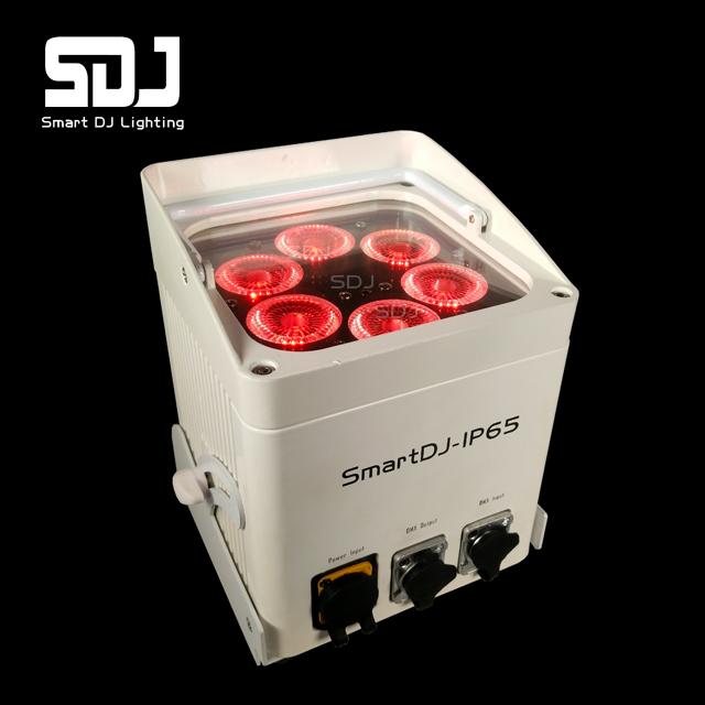 6x12W RGBAWUV IP65 Waterproof Battery Powered LED Uplights