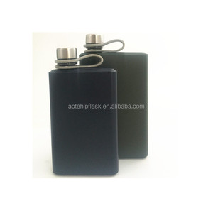 2018 new products 8oz stainless steel black hip flask