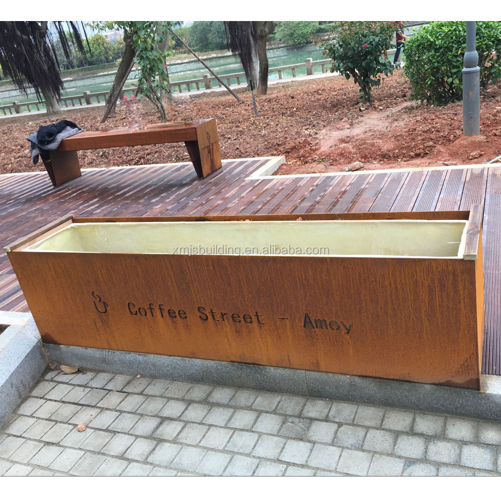 Corten Steel Outdoor Garden Planter Metal Garden Planter