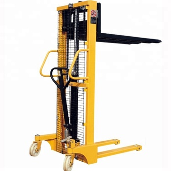 Hydraulic hand operating forklift manual lift pallet stacker truck dealer