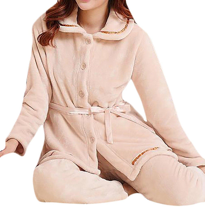 219cfe0c56 Get Quotations · Zago Womens Warm Lounge Soft Flannel Sleepwear Pajamas Set