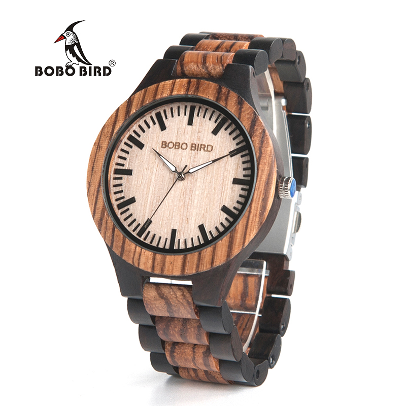 BOBO BIRD Current Watch Men Vintage Couple Wooden Watches Drop Shipping Reloj Hombre Custom Available Quartz Watch