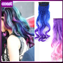 cheap new fashion synthetic tight curly ombre hair extension
