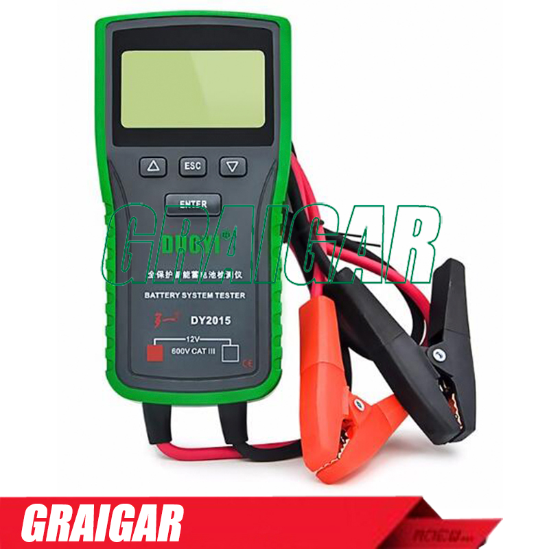 DY2015A Automotive Battery Tester Electric Vehicle Battery Capacity Tester 12V & 24V Battery System Meter