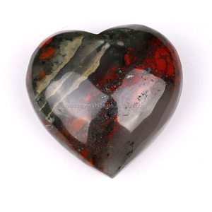 Wholesale Heart Shaped Bloodstone Gemstone as Novelty Father's Day Gifts