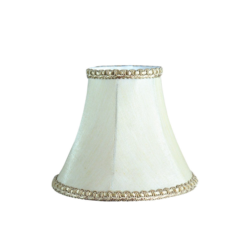 victorian style mini lining white color fabric table lampshade
