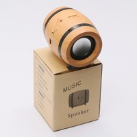 Popular Portable Speaker Wooden Beer Barrel Wireless Bluetooth 4.1 Stereo USB PC Speaker