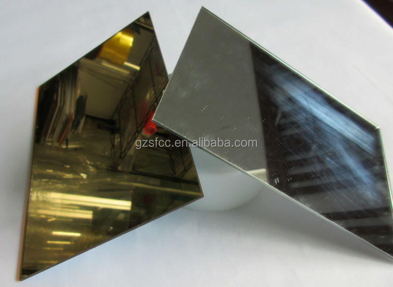 silver and gold mirror acrylic sheet