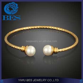 680936316cd881 Export Factory Professional Jewelry Manufacture Sexy Cuff Pearl Bangle