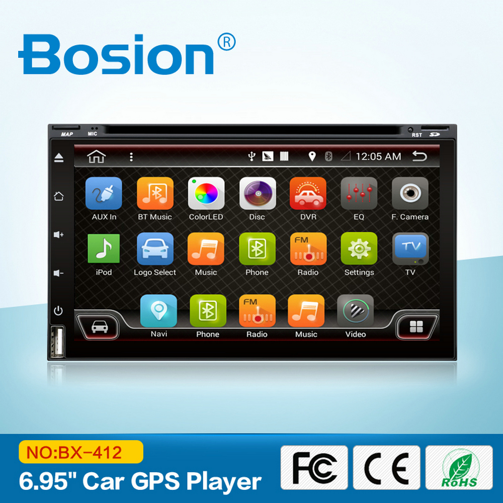 Fascia Universele Dubbele Din Touchscreen Android Auto DVD Radio voor Mazda CX5 met GPS Bluetooth 3G Wifi