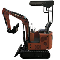Hydraulic mini 1ton ditch excavator small excavating machine in Farm