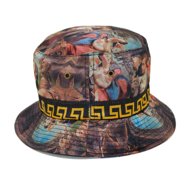 e4491007 Ladies Women Blue Tie Dye White Print Embroidery Stone Washed Boonie Custom  Hat Reversible Bucket Hats