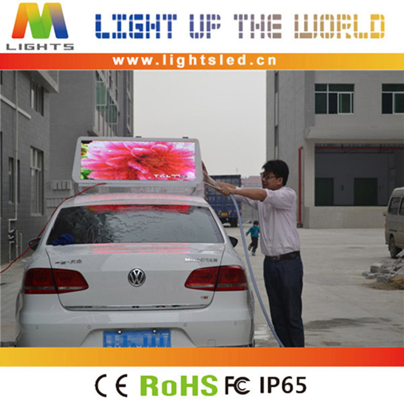 P5 p4 p2 touch screen taxi roof top advertising signs