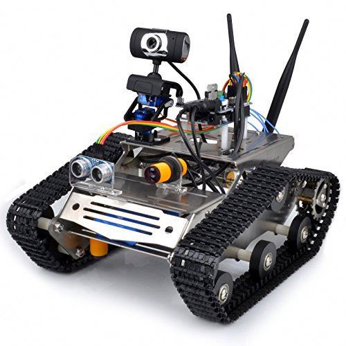 WIFI Robot Car Kit HD Camera Wireless Wifi UNO DS Smart Car Kit with Antenna, Obstacle Avoidance,Tracking SM5