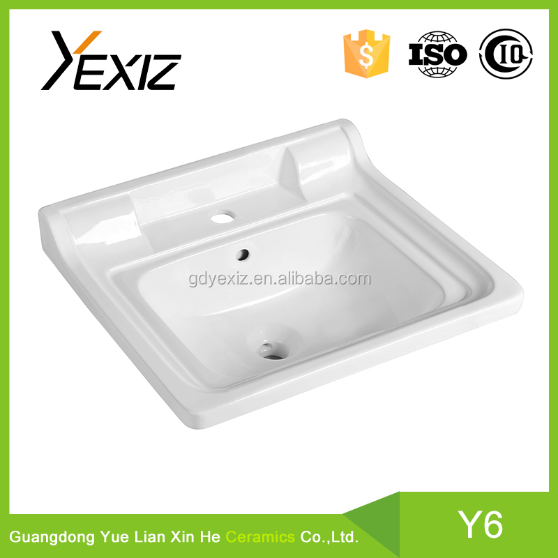 Y6 chaozhou ceramic large capacity cabinet under counter hospital sink
