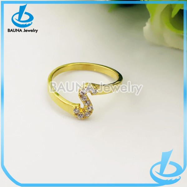 Cheap Custome Gold Plated Plain Letter S Ring Buy Letter S Ring