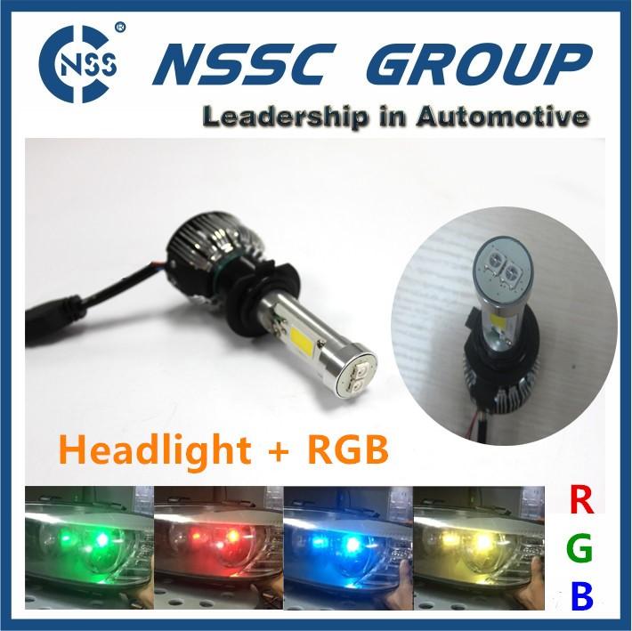 High Power 2200lm Car H7 Rgb Led Bulb 9006 9005 H11 Headlight Bulb ...