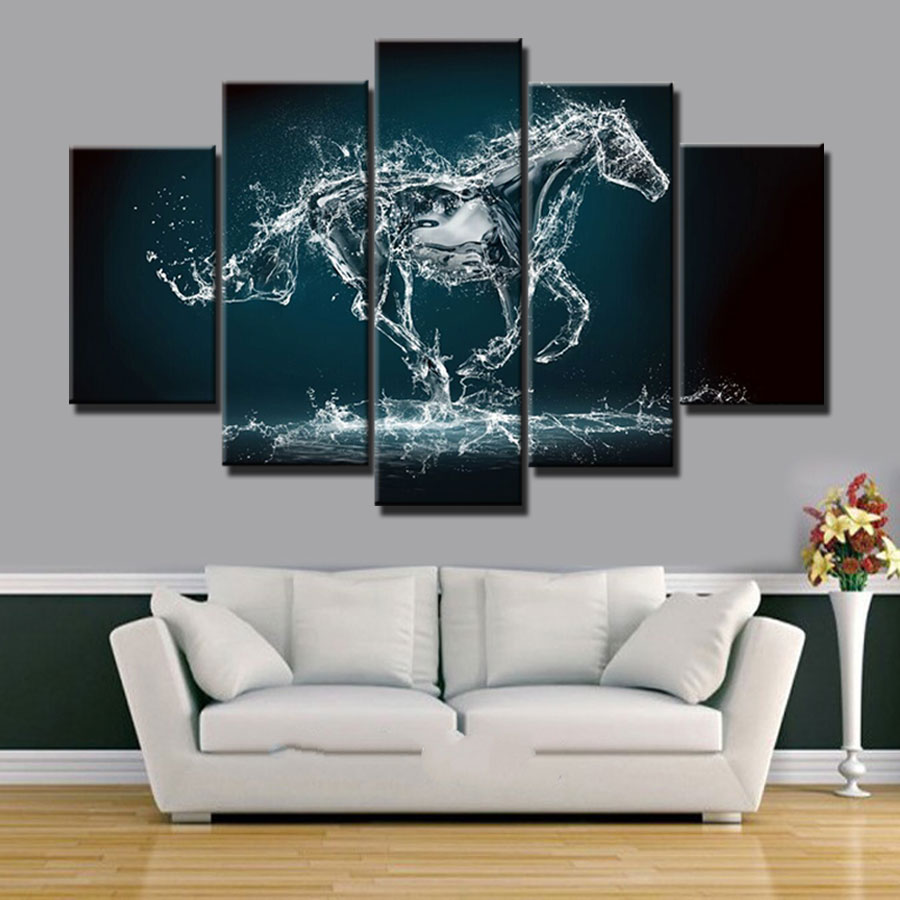 aliexpresscom buy new design ideas modern home decor art painting horse picture pieces canvas art prints - Canvas Design Ideas
