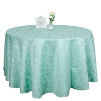 Elegant Wholesale Turquoise 132 Round Table Linen for Wedding Party