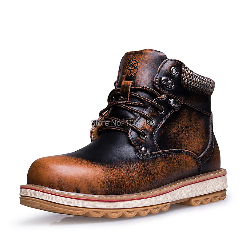 2014 Winter Sneakers New Stylish mens snow boots genuine