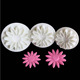 3pcs set Fondant Cake Cutter Decorating Sun flower shaped plunger cutter