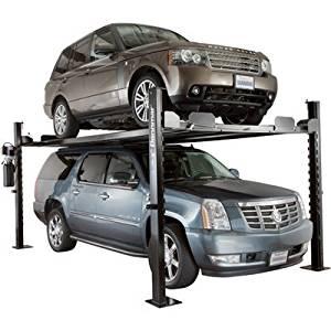 - Dannmar Equipment 4-Post Auto Lift/Storage Lift - 7000-Lb. Capacity, Model# Commander 7000
