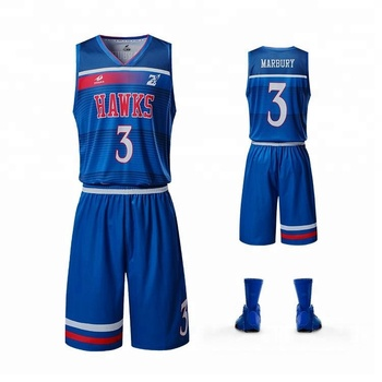 The latest basketball uniforms customization dry quickly best material printing logo and team name and number for full set