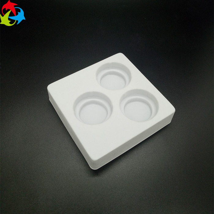Custom Cosmetics Blister PS Flocking Plastic Luxury Packaging Tray