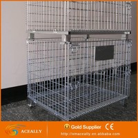 Wire steel storage container cage pallet ball pallet cage