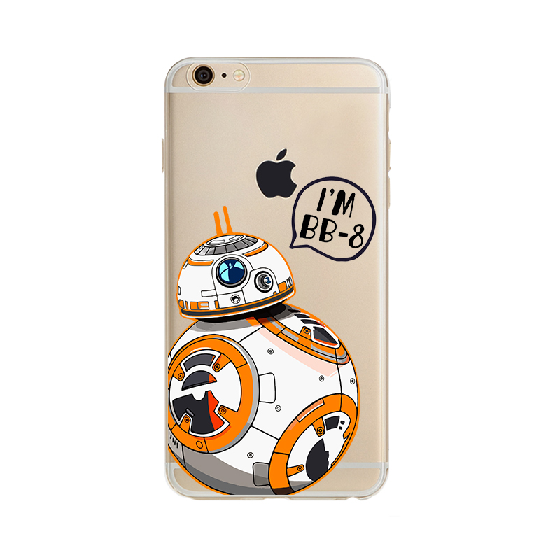 For iPhone 6S Case Star Wars The Force Awakens BB 8 Droid Robot Soft TPU Slim