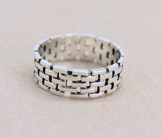 Wholesale jewellery new arrival products wall shape silver ring