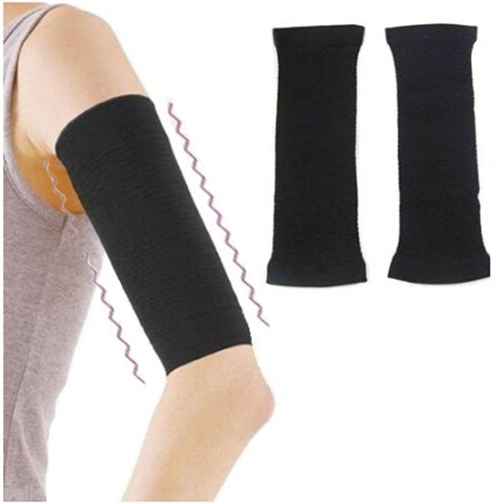 2Pcs Qingsun Slimming Arm Sleeve Shaper Support Wrap Calories Off Slimming Arm Massage Lose Fat Buster Shaperwear Black