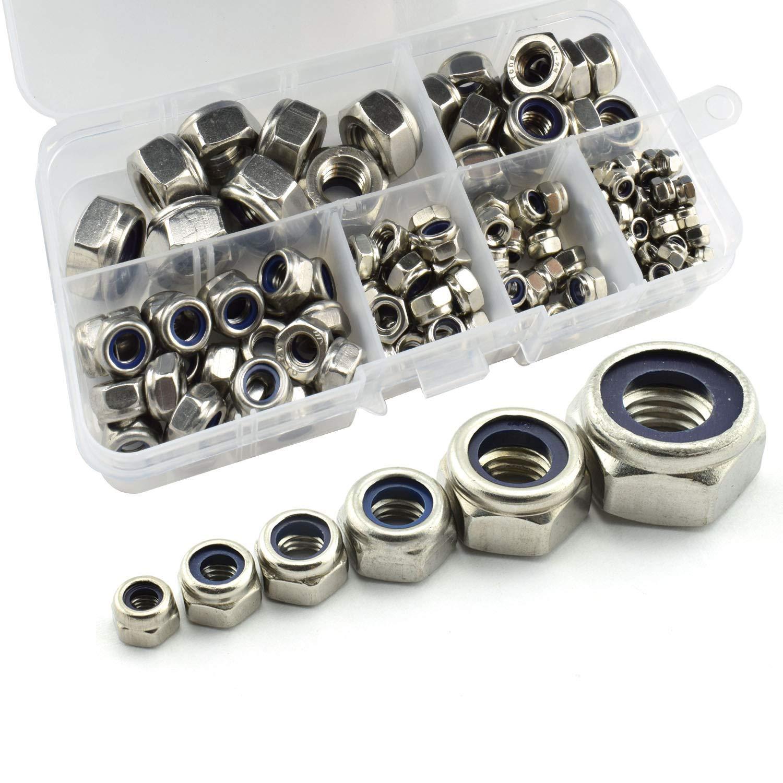 AuSL Stainless Steel M2 M3 M4 Screw Nuts Hex Socket Screw Bolts Nuts Assortment 360PCS M2 M3 M4 Screw-360pcs