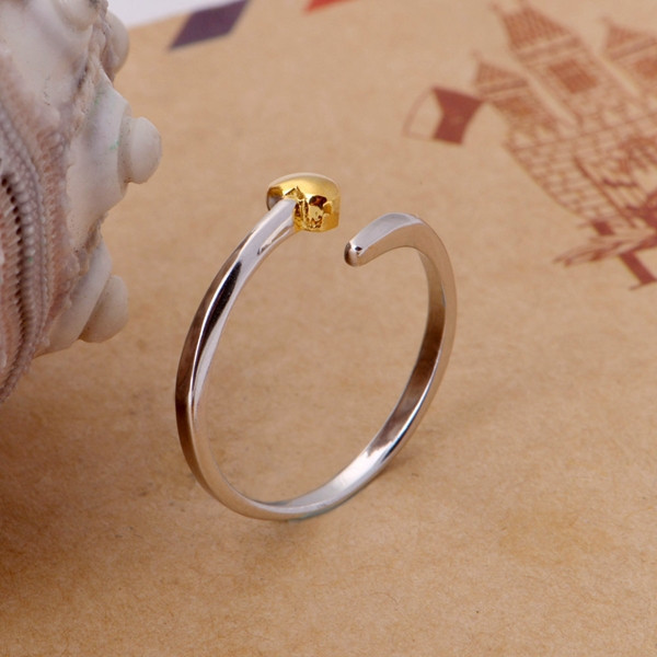 artificial finger rings with gold heart decoration custom wholesale gold little open finger rings